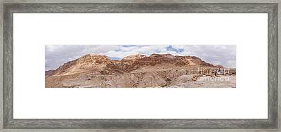 Framed Print featuring the photograph Qumran National Park by Yoel Koskas
