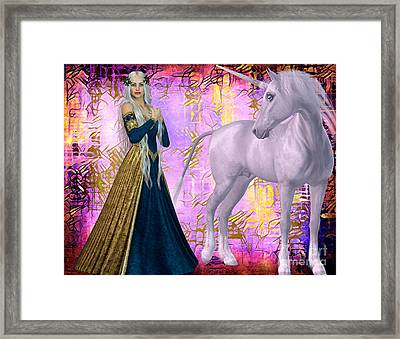 Quod Magicae Spectro Framed Print