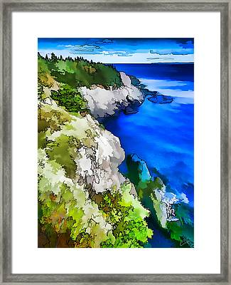 Quoddy Coast - Abstract Framed Print by ABeautifulSky Photography