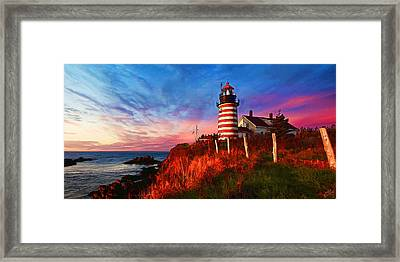 Quoddy Head Sunrise Framed Print by ABeautifulSky Photography