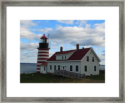Quoddy Head Light Framed Print