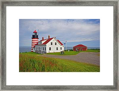Quoddy Head Lighthouse Framed Print