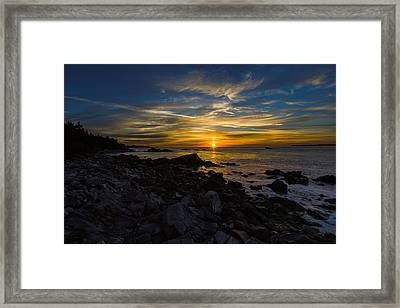 Quoddy Head State Park Sunrise Panorama Framed Print by Marty Saccone