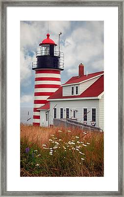 Quoddy Lighthouse Afternoon Framed Print by Brenda Giasson