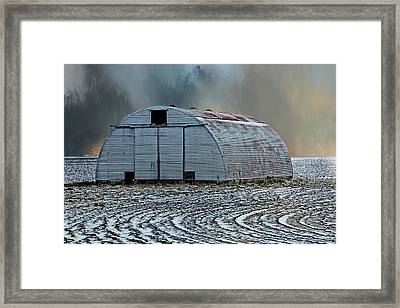 Quonset Hut Framed Print by Theresa Campbell