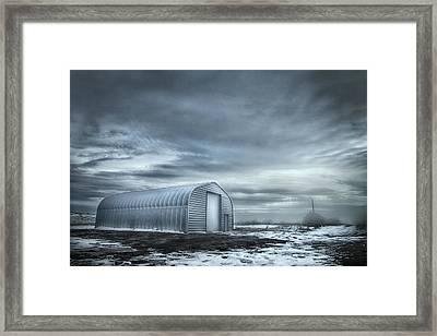 Quonset Hut Framed Print by Theresa Tahara
