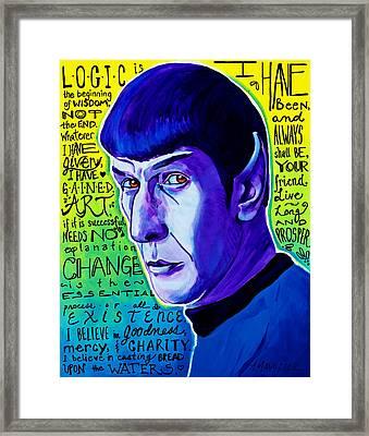 Quotable - Spock Framed Print
