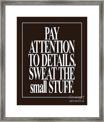 Quote 4032 Framed Print