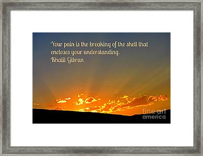 Quote About Healing Framed Print by John Malone
