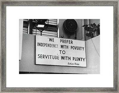Quote By Ahmed Sekou Toure  Framed Print by The Harrington Collection