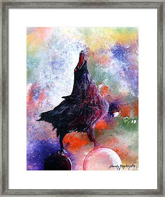 Quothe The Raven Framed Print by Sandy Applegate