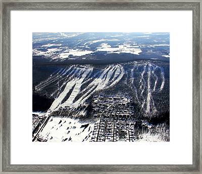 R-021 Rib Mountain Wisconsin Winter Framed Print