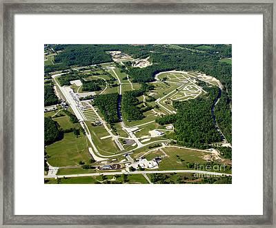 R-025 Road America Elkhart Lake Wisconsin Summer Framed Print