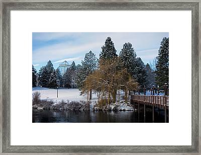 R F P Centennial Trail Spokane Winter 2 Framed Print