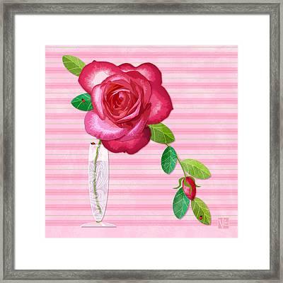 R Is For Rose Framed Print by Valerie Drake Lesiak
