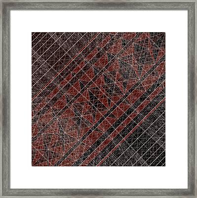 R-n W B  -  Red Netwireblast Framed Print
