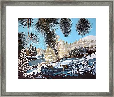 R-ranch In The Winter Framed Print by Olga Kaczmar