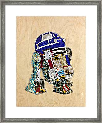 R2-d2 Star Wars Afrofuturist Collection Framed Print by Apanaki Temitayo M