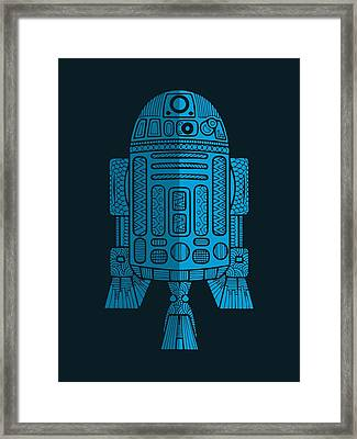 R2d2 - Star Wars Art - Blue 2 Framed Print