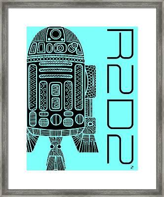 R2d2 - Star Wars Art - Blue Framed Print