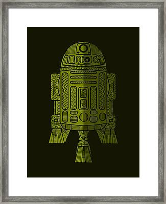 R2d2 - Star Wars Art - Green 2 Framed Print