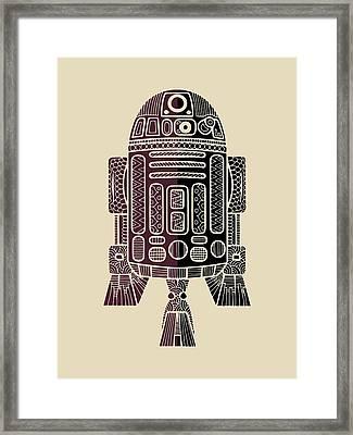 R2d2 - Star Wars Art - Purple Framed Print