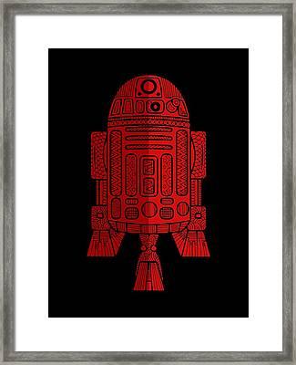 R2d2 - Star Wars Art - Red 2 Framed Print