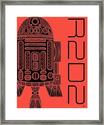 R2d2 - Star Wars Art - Red Framed Print
