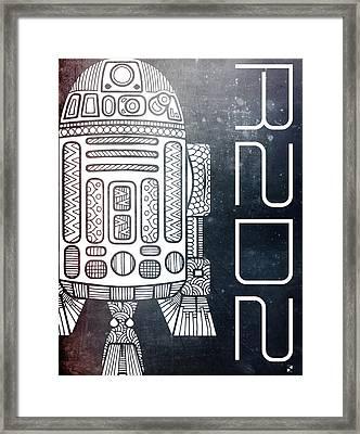 R2d2 - Star Wars Art - Space Framed Print