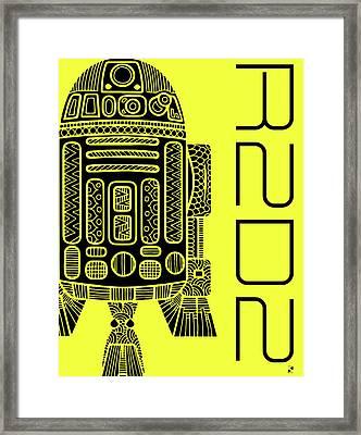 R2d2 - Star Wars Art - Yellow Framed Print