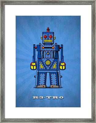 R3 Tr0 Robot Framed Print by Mark Rogan