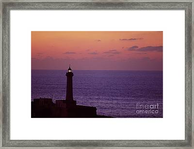 Rabat Morocco Lighthouse Framed Print by Antonio Martinho