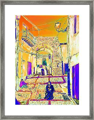 Framed Print featuring the painting Rabato  by Loredana Messina