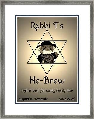 Rabbi T's He-brew Framed Print