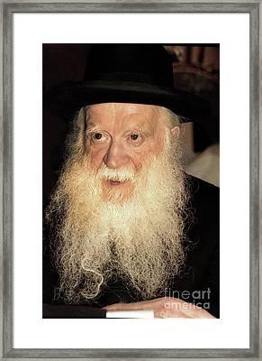 Framed Print featuring the photograph Rabbi Yehudah Zev Segal by Doc Braham