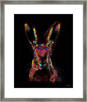 Rabbit Color Splash  Framed Print