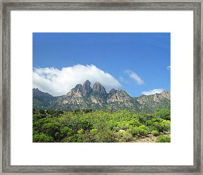 Framed Print featuring the photograph  Organ Mountains Rabbit Ears by Jack Pumphrey