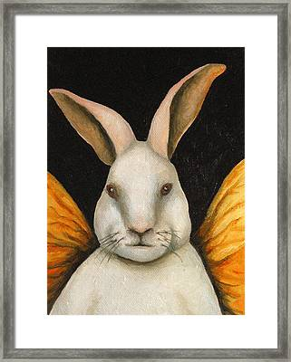Rabbit Fairy Framed Print by Leah Saulnier The Painting Maniac