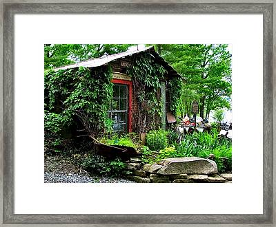 Rabbit Hash Shop Framed Print by Julie Dant