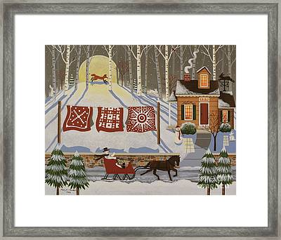 Rabbit Hill Framed Print by Mary Charles