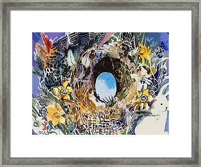 Rabbit Hole Or Robin Egg Framed Print by Mindy Newman
