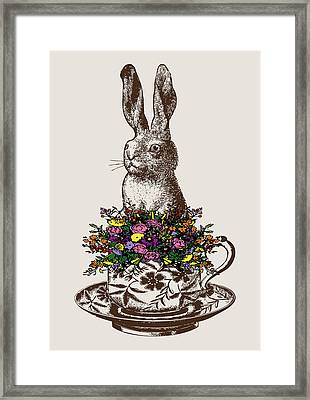 Rabbit In A Teacup Framed Print by Eclectic at HeART