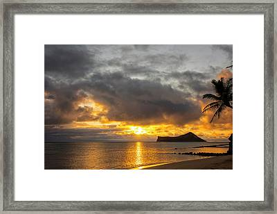 Rabbit Island Sunrise - Oahu Hawaii Framed Print