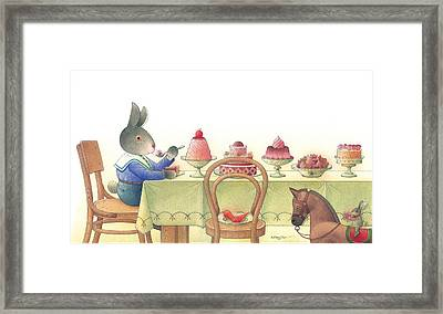 Rabbit Marcus The Great 10 Framed Print by Kestutis Kasparavicius