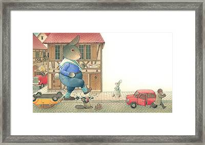 Rabbit Marcus The Great 19 Framed Print by Kestutis Kasparavicius