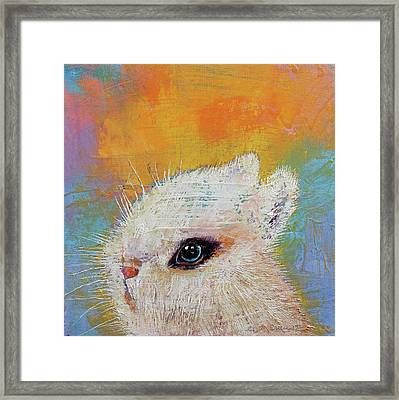 Rabbit Framed Print by Michael Creese