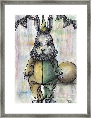 Rabbit Pierrot Framed Print