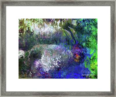 Rabbit Reflection Framed Print