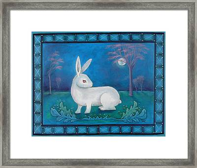 Framed Print featuring the painting Rabbit Secrets by Terry Webb Harshman