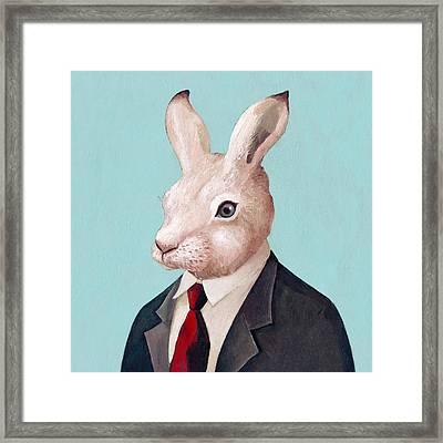 Rabbit Square Framed Print by Animal Crew
